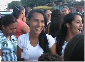 Amanda (Centro) uma das ganhadoras