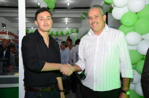 Roberlandyo com Valmir do Leite, Vice-prefeito.