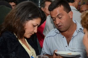 Ex-vice prefeito Célio Moura dando seu depoimento sobre o evento.