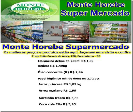 Monte Horebe Supermercado Paranatama tabela de preços