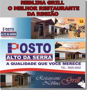 RESTAURANTE NEBLINA GRILL, POVOADO ALTO DA SERRA, PARANATAMA