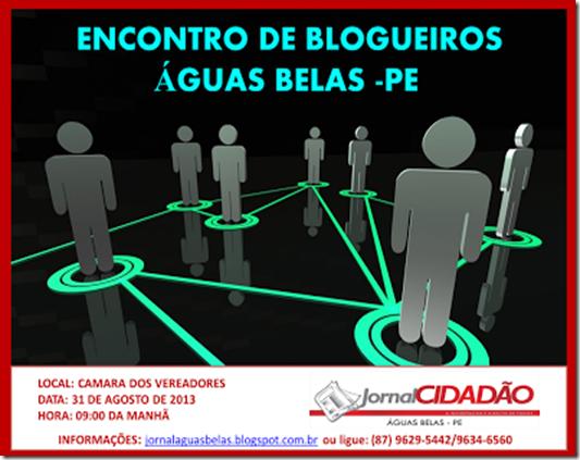 1 Encontro de blogueiro em Águas belas Pernambuco, agreste news revista