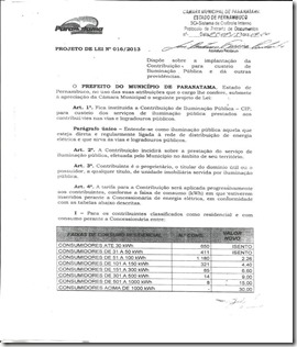 Projeto de lei 016/ 2013 chama atenção da população Paranatamense. Agreste News Revista.