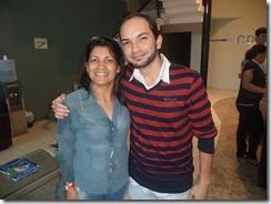 Cleide Pereira com Jornalista Jael Soares do G1