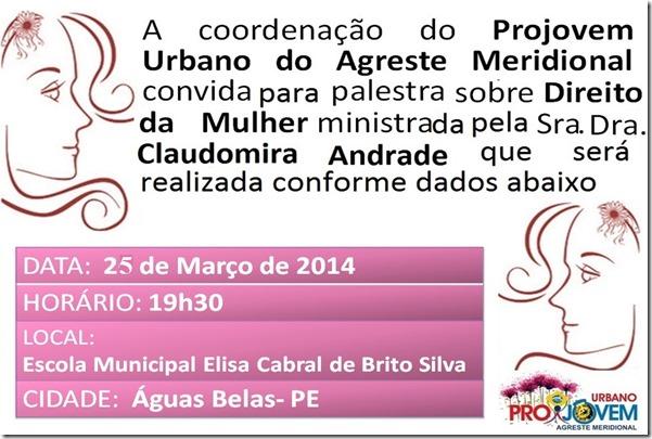 Projovem Urbano realiza palestras sobre Direito da Mulher no Agreste. Agreste News Revista