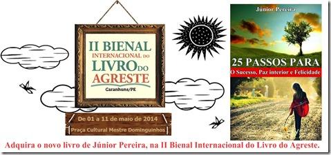 Escritor de Paranatama, Júnior Pereira, terá livros a venda na II Bienal Internacional do Livro do Agreste em Garanhuns.