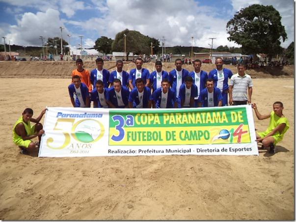 Esrpote na categoria Aspirante e Canarinhos na categoria Titular, forama eliminados na tarde de sábado da 3º Copa Paranatama de futebol.