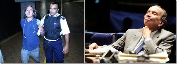 O blogueiro Rodrigo Grassi, conhecido como Rodrigo Pilha e titular do blog Botando Pilha, foi detido ontem pela Polícia do Senado, após entrevistar o senador Aloysio Nunes (PSDB-SP).
