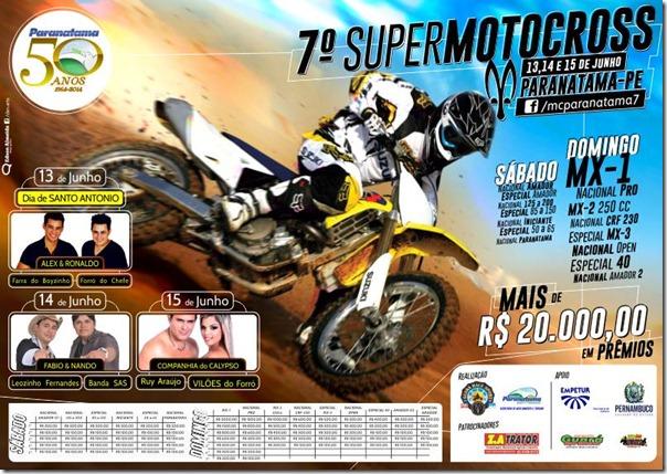 7º Super Motocross de Paranatama - dias 13, 14 e 15 de junho