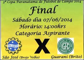 No ultimo final de semana foram definido os grandes finalistas da 3º Copa Paranatama de Futebol
