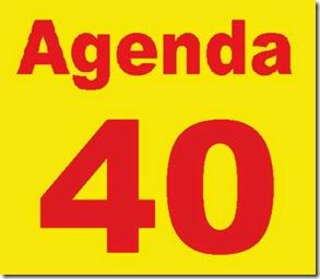 agendda 40