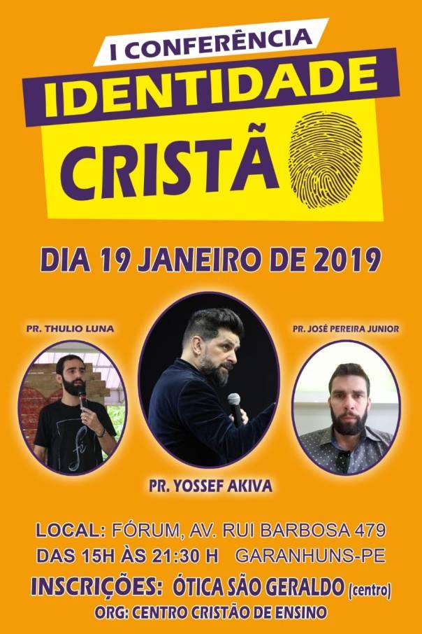 Pastor Yossef Akiva e o Pastor José Pereira Jr, estarão no dia 19 de janeiro de 2019 em Garanhuns - PE..jpeg